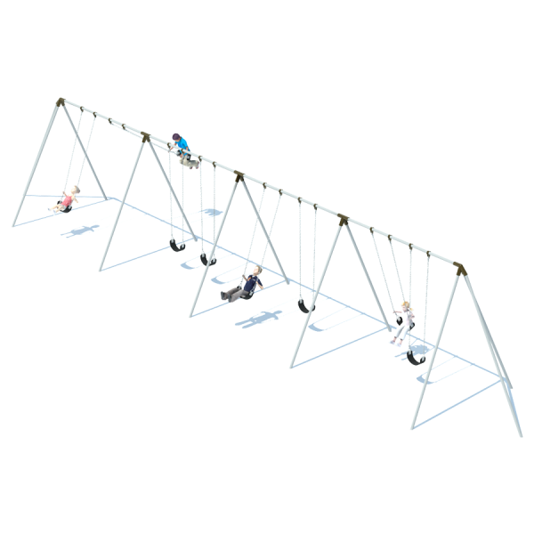 4 Bay 10' Tri-Pod Swing Frame