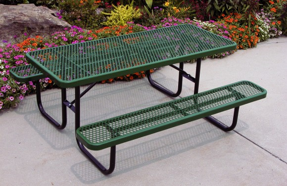 158-v6-heavy_duty_rectangular_expanded_metal_picnic_table