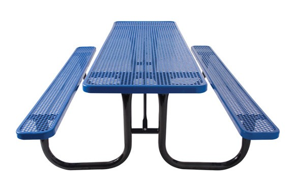 Rectangular Perforated Metal Table