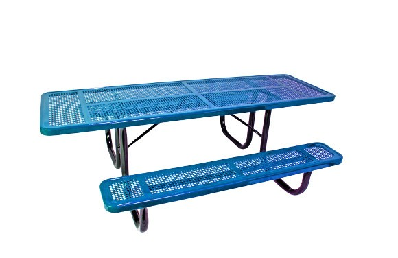 8' ADA Perforated Metal Picnic Table (Single-Sided)