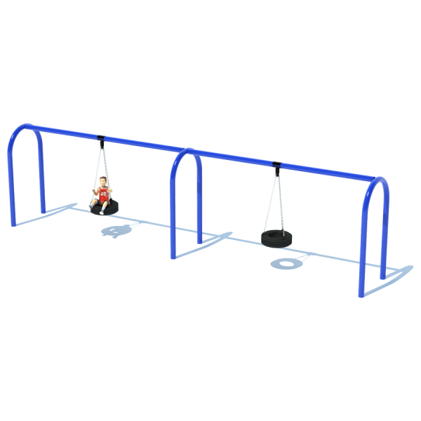 "2 Bay 8' Arch 5"" Tire Swing Frame"