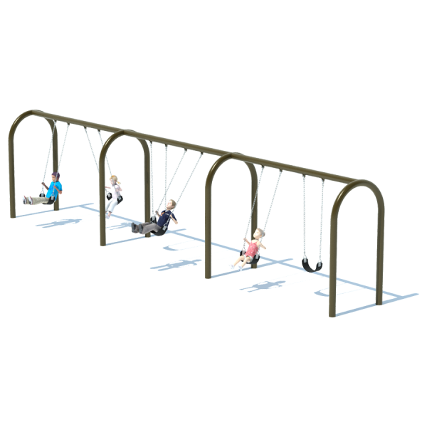 "3 Bay 8' Arch 5"" Swing Frame"