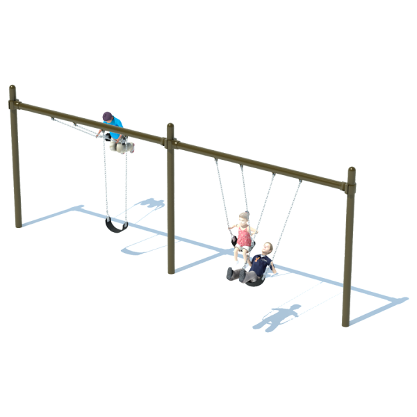 2 Bay Single Post Swing Frame