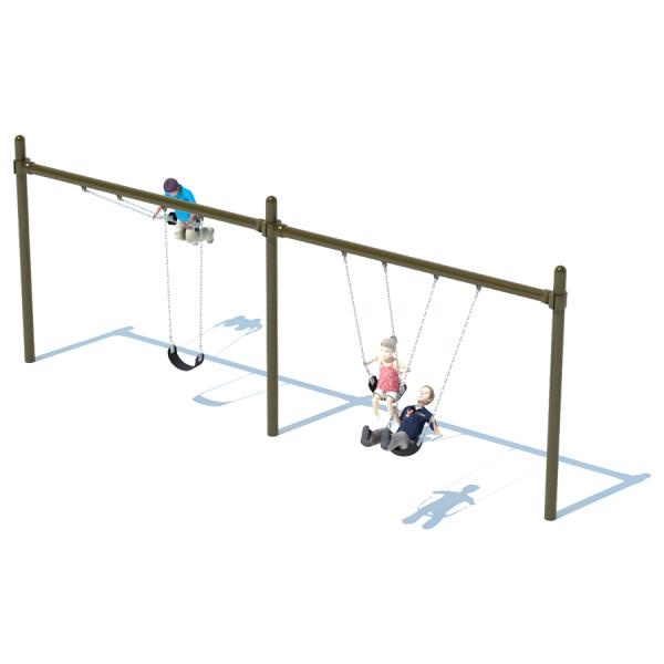 2 Bay Single Post Swing Frame