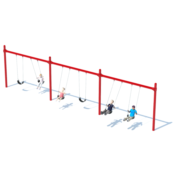 3 Bay Single Post Swing Frame