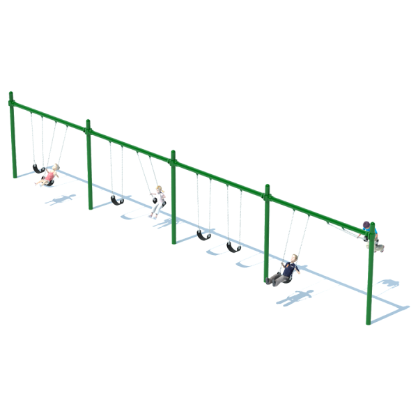 4 Bay Single Post Swing Frame
