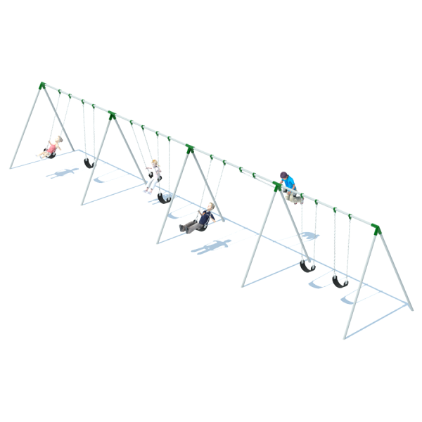 4 Bay Bi-Pod Swing Frame