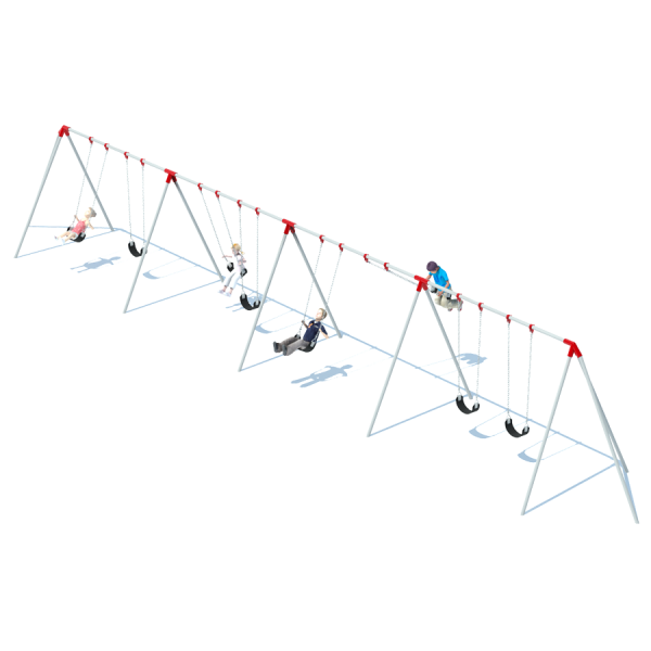 4 Bay 8' Tri-Pod Swing Frame