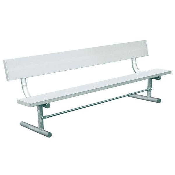 Aluminum Park Bench With Back