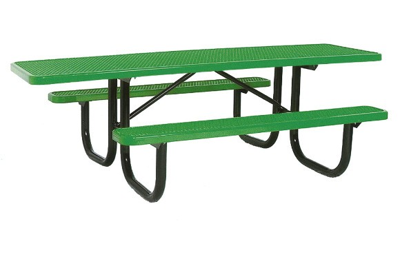 ADA Expanded Metal Picnic Table Commercial Playground Equipment - Playground picnic table