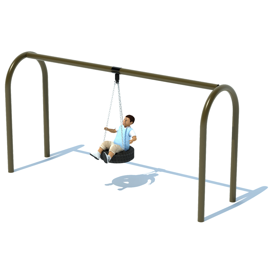 1 Bay 8 Arch 5 Tire Swing Frame Swing Sets