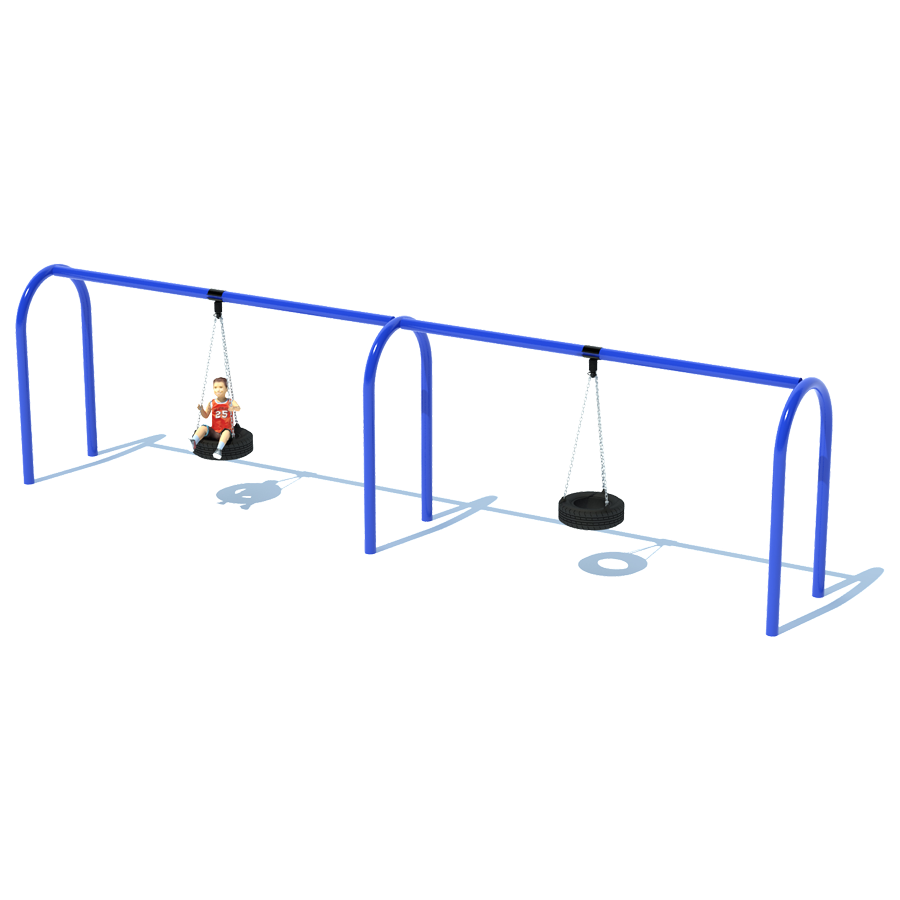 2 Bay 8 Arch 5 Tire Swing Frame Swing Sets