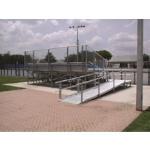 Elevated Bleacher Series w/Chain Link Guardrail