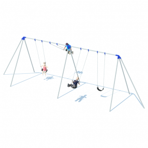2 Bay 10' Tri-Pod Swing Frame
