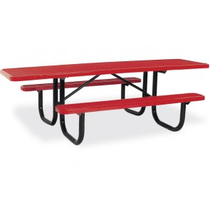 8' ADA Expanded Metal Picnic Table (Double-Sided)