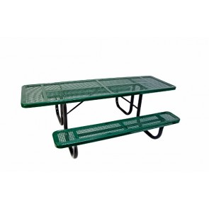 8' ADA Perforated Metal Picnic Table (Double-Sided)