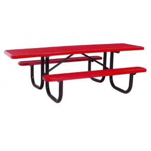 8' ADA Expanded Metal Picnic Table (Single-Sided)