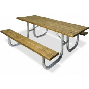Traditional Heavy Duty Wood/Metal Table