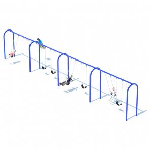 "4 Bay 8' Arch 3.5"" Swing Frame"