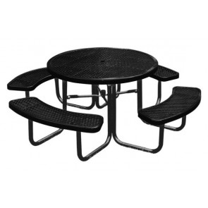 "46"" Round Expanded Metal Table"