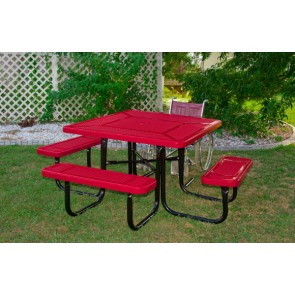 "46"" Square ADA Perforated Metal Picnic Table"