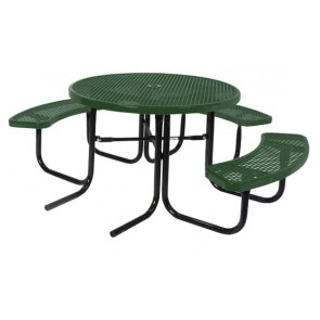 "46"" Round ADA Expanded Metal Picnic Table"