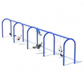 "4 Bay 8' Arch 5"" Swing Frame"