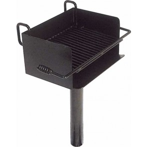 "CANTILEVER ROTATING PEDESTAL GRILL W/ 3 1/2"" O.D. POST (300 SQ. INCH)"