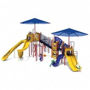 Galaxy Falls Playground - Playful Colors - Front View