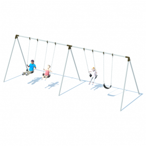 2 Bay Bi-Pod Swing Frame