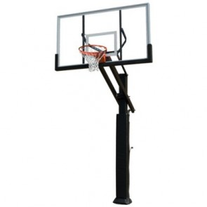 ADJUSTABLE BASKETBALL GOAL SYSTEM