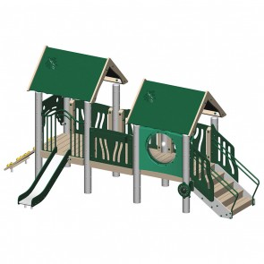 Tot City - Front View - American Playground Company