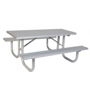 Rectangular Heavy Duty Aluminum Park Table
