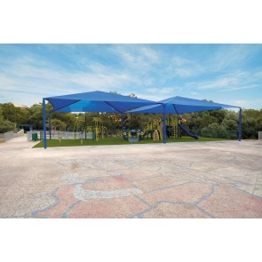 Multi-Dome Square Hip Fabric Shade Structure