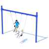 1 Bay Single Post Swing Frame