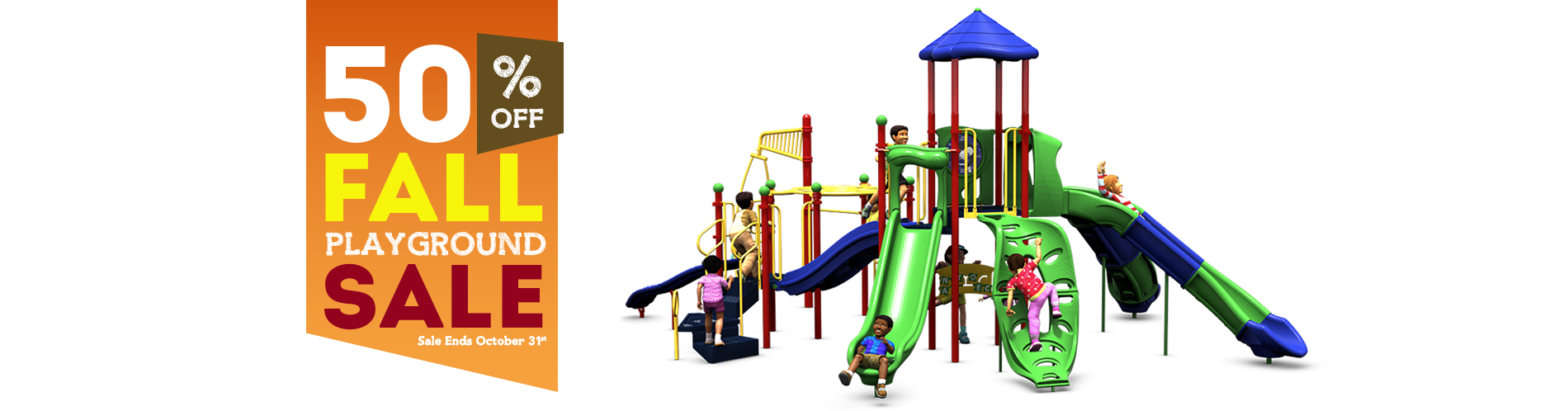 50% Off Back To School Playground Sale
